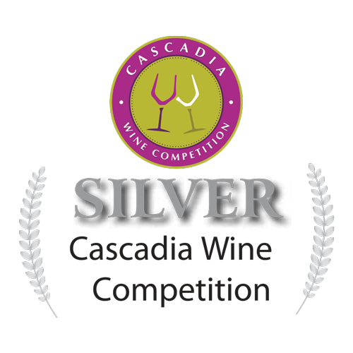 Cascadia Wine Competition Silver Award - Crescent Hill Winery, Penticton, BC