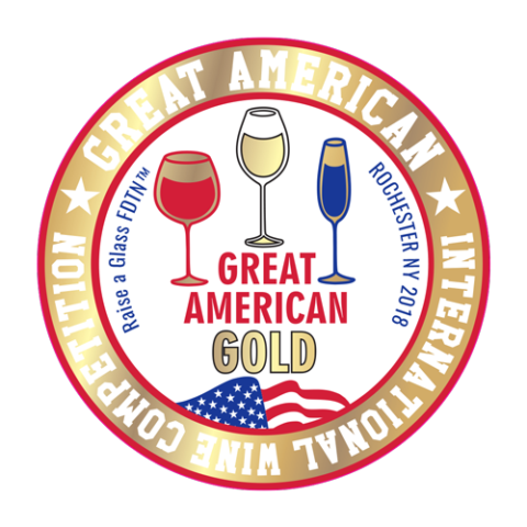 Great American Wine Competition GOLD - Crescent Hill Winery, Penticton, BC