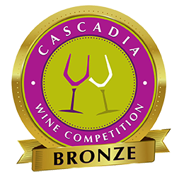 Cascadia Wine Competition Bronze Award - Crescent Hill Winery, Penticton, BC